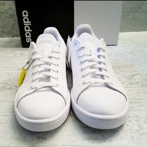 adidas Shoes - Adidas Advantage white & Silver sneakers